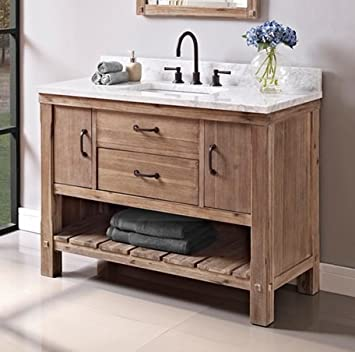Fairmont Designs 1507 Vh48 Napa 48 Open Shelf Vanity Sonoma Sand Amazon Com