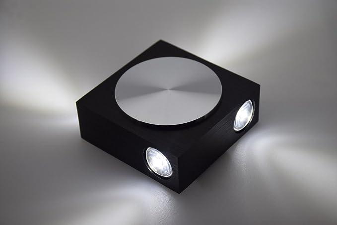 Moderno w led quadrato applique luce per camera da letto white
