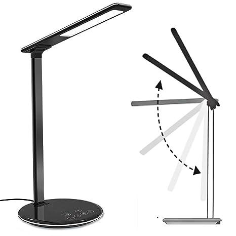 Luz nocturna, cargador inalámbrico Lámpara de escritorio LED ...