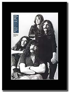 gasolinerainbows Black Sabbath - Iron Man Promo de la revista del Reino Unido en un monte negro