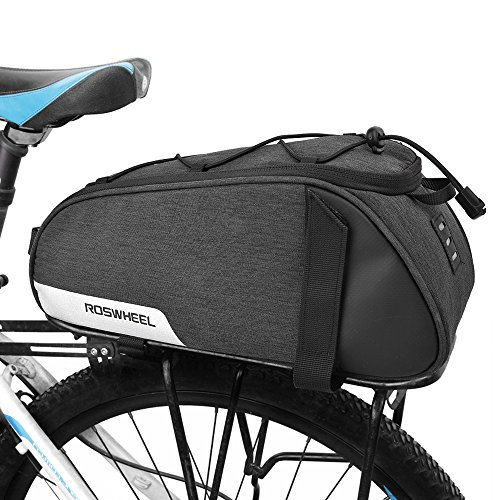 WOTOW Bike Rear Seat Bag, BicycleBackseat Bag Cycling Pannier Rear Rack...