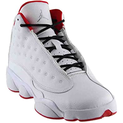 the latest 57143 ce544 ... sweden jordan air 13 retro bg big kids shoes white metallic silver red  414574 ef820 89974