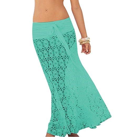 GFCGFGDRG - Falda de Mujer Larga, Estilo Hippie, 2 en 1, para IR a ...