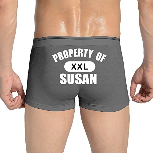 Property Of SUSAN Fashion Print Comfort Soft Waistband Boxer Briefs