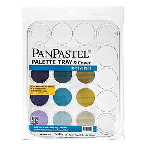 Bandeja de paleta platica para PanPastel 20 hoyos blanco