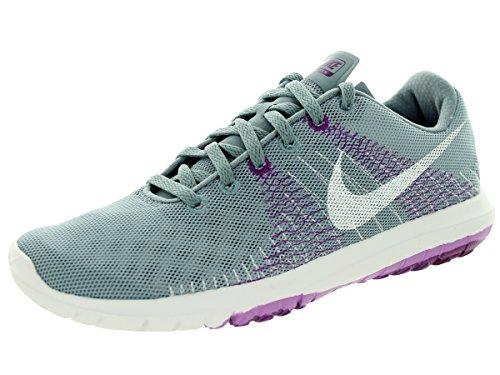 Chaussures De Course Flex Fury Nike Femmes Dv Gry / Blanc / Fchs Glw / Bld Brry