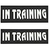 "Kopowaes Magic Patch Reflective Tag for Dog Harness SERVICE DOG / IN TRAINING (L:6.3""x1.96"", IN TRAINING)"