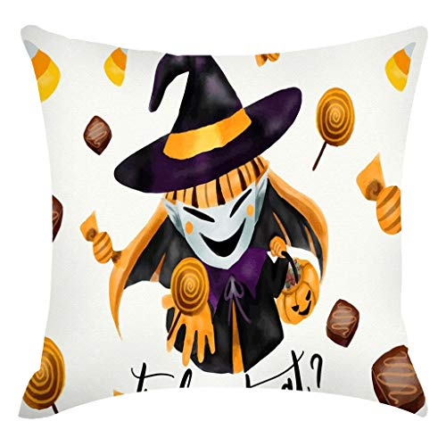 Jocome Throw Pillow Case,Halloween Pumpkin Linen Pillowcase Pillowcase Decorative Sofa Cushion Cover Gift Ideas Household Pillowcase Zippered Pillow Covers -