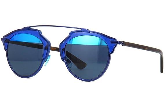 086615cfc0e05 Amazon.com  Dior So Real Sunglasses 48mm Dark Blue Aqua KMA8T  Clothing