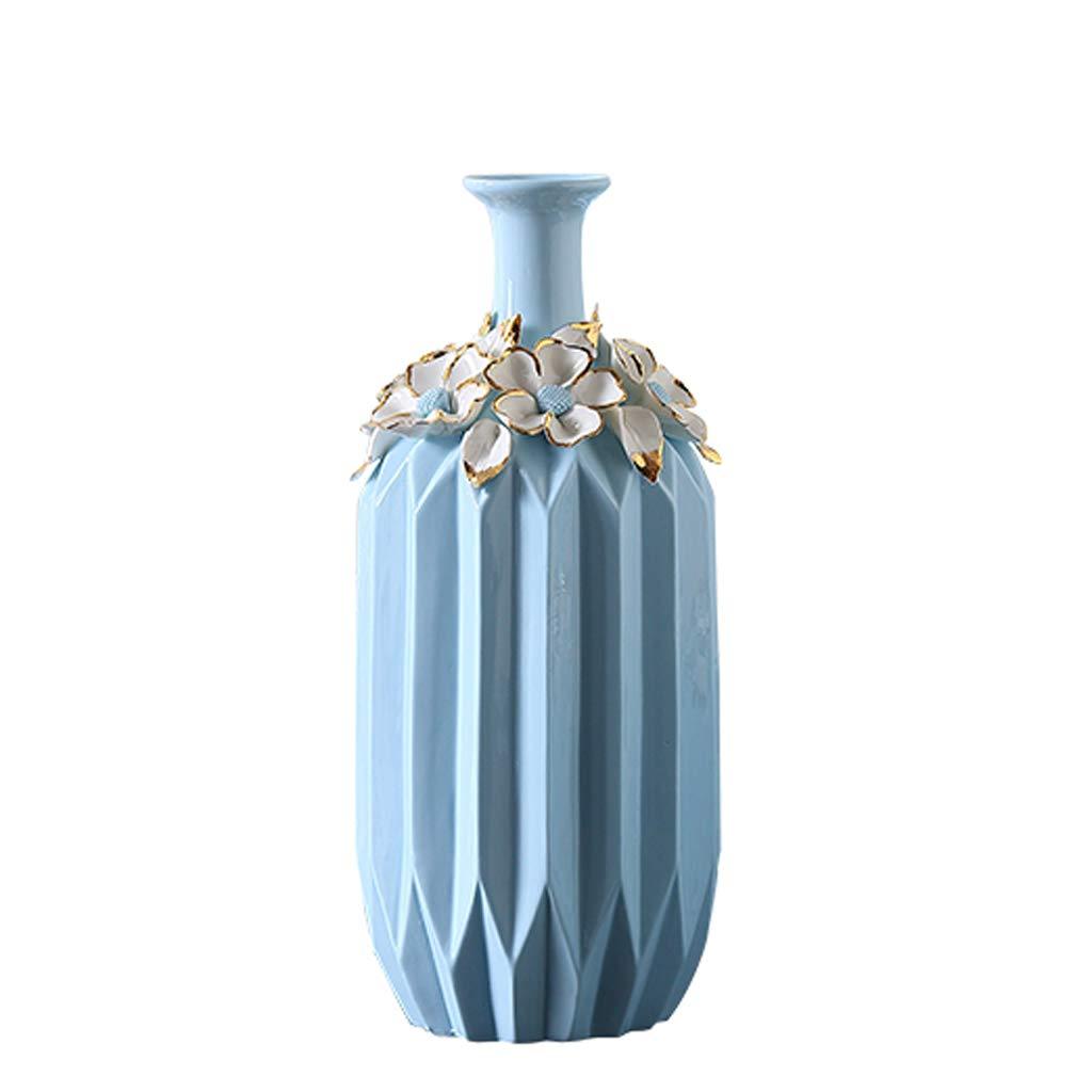 GAODUZI Vaso in Ceramica Decorazione Combinazione Soggiorno Decorazione Vaso Europeo Decorazione casa Moderna Semplice (Dimensioni   B-13  30.5cm)