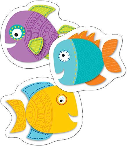 Carson Dellosa - Fish Mini Colorful Cut-Outs, Classroom Décor, 36