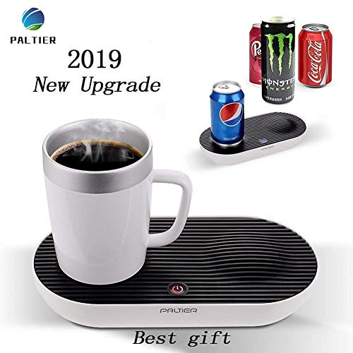 ALTIER Coffee Mug Warmer Electric Desktop Heated and Cooling Coffee Tea Mug Warmer Coffee Mug Cooler and Warmer with Auto Shut-off Powered for Home Office Model (Smart Cup Set) ()