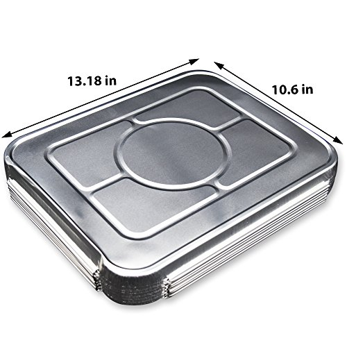(40 Pack) Premium Lids for Chafing Pans 9'' x 13'' Half Deep Pans l Top Choice Disposable Aluminum Foil Tin Pan Lid Perfect for Roasting Potluck Catering Party BBQ Baking Cakes Pies by Fig and Leaf (Image #3)