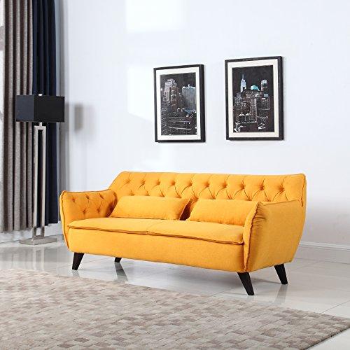 mid-century-modern-tufted-linen-fabric-sofa-yellow