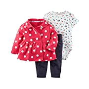 Carter's Baby Girls' 3 Piece Little Jacket Set 3 Months