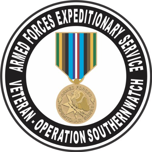 MilitaryBest Armed Forces Expeditionary Medal Operation Southern Watch Decal 5.5 Inch Decal