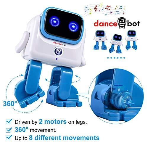 Novelty Bluetooth Dancing Robot Speaker 5W Wireless Portable Speaker Robot for Kids/Adults - Dancing Kids Toys Robot Echeers