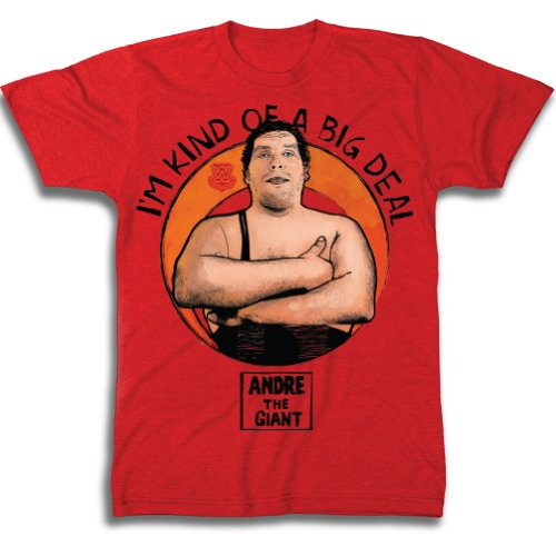 WWE Men's Andre The Giant I'M Kind Of A Big Deal T-Shirt, Red Heather, XX-Large (Stores Outlet Tv Online)