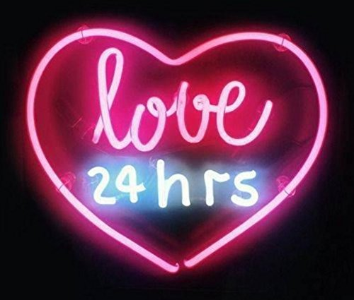 Lakers Neon Sign (Love 24 Hours Design Customizable Neon Sign Light, 17(w) x 14(h) inch made with Glass Tube, Beautiful Decoration)
