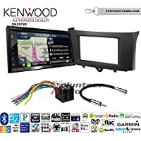 Volunteer Audio Kenwood DNX574S Double Din Radio Install Kit with GPS Navigation Apple CarPlay Android Auto Fits 2011-2014 Smart Fortwo