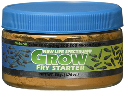 New Life Spectrum 50g 200-300 Microns Grow Fry Starter Food, All Sizes - Fry Food