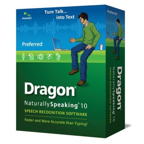 - Nuance Dragon NaturallySpeaking v.10.0 Preferred with Noise-canceling Headset Microphone - Complete Product - Standard - 1 User - Mini Box Retail - PC