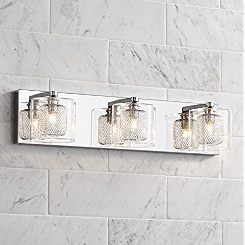 Pleasant Possini Euro Design Zatara 20 1 2 Wide Chrome Bath Light Home Interior And Landscaping Staixmapetitesourisinfo