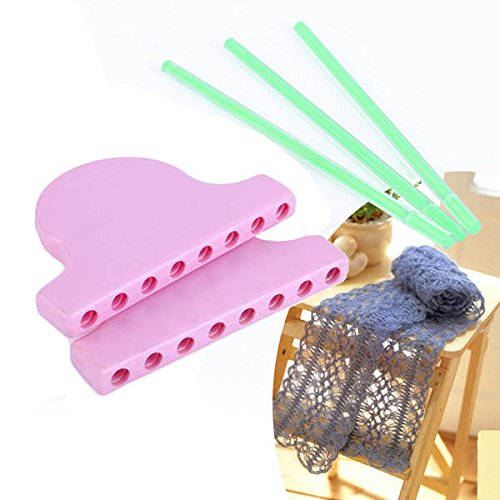 Fincos Scarf Lace Knitting Loom DIY Knitting Work Flower Bowknot Tassel Weaving Tools by Fincos Arts, Crafts & Sewing