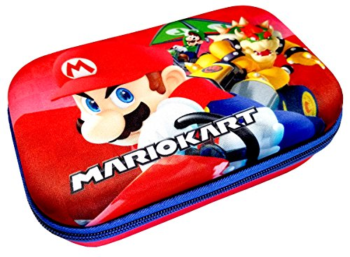 UPD Hard Shell Molded Zippered Pencil/Storage Case (Mario Kart), Multicolor