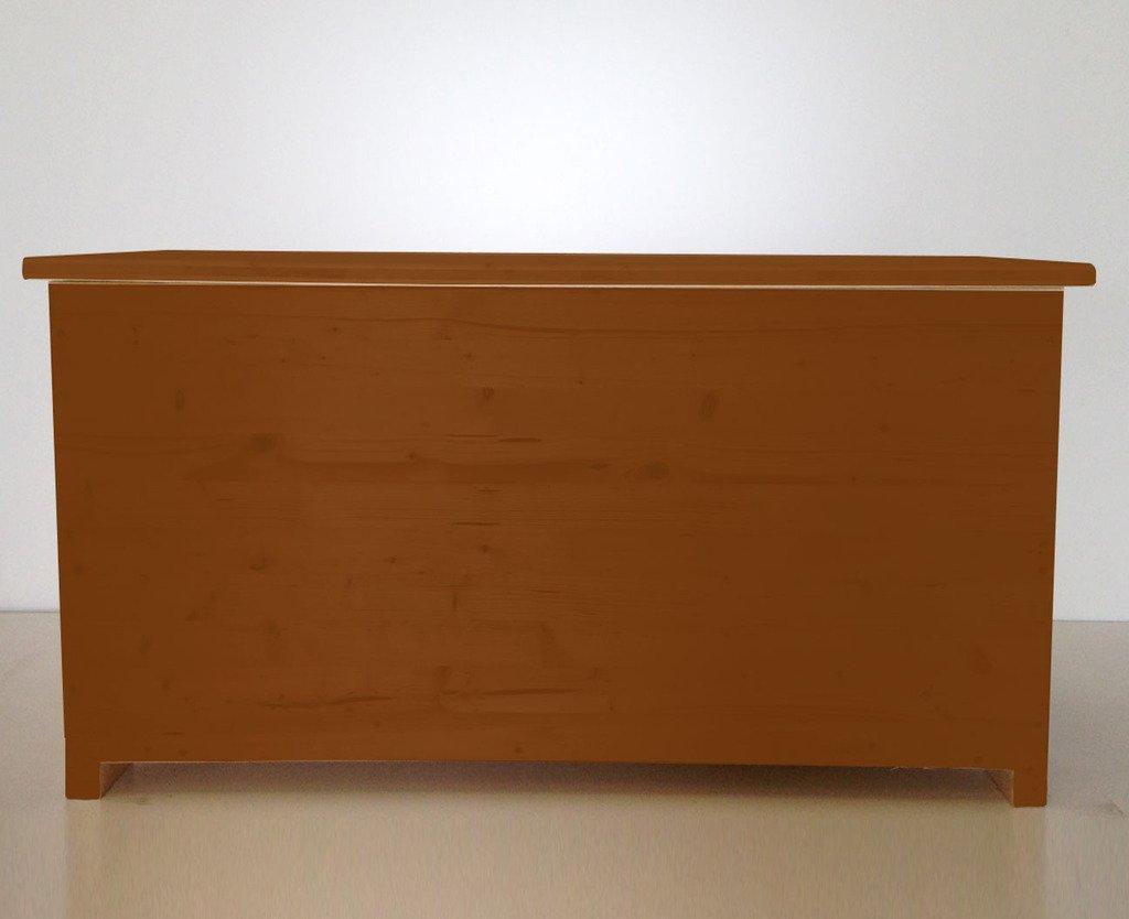 Amico Legno Cassapanca in multistrato con cerniera interna Cod 58 80x45x47 Impregnante All'Acqua Cerato Noce Chiaro