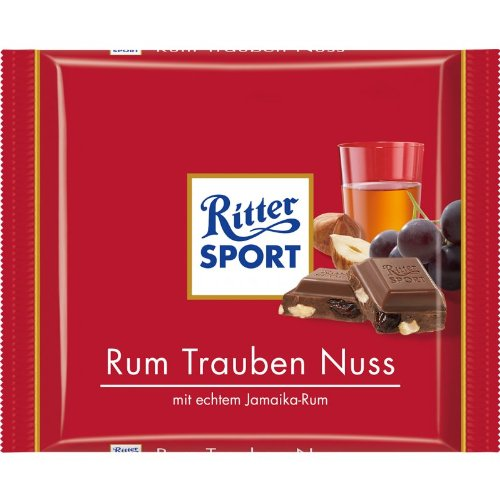 Ritter Sport Rum Trauben Nuss / rum nut grape (3 Bars each 100g) - fresh from Germany