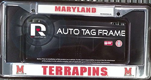 Marland Terrapins New Design Chrome Metal License Plate Tag Frame Cover University of ()