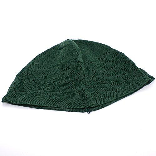 91d28447d0268 Quality Muslim Islamic Kufi Cap (Dark Green) Prayer Hat Taqiya Takke Peci  Skull Beanie