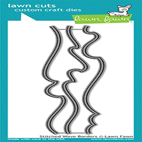 Lawn Fawn Lawn Cuts Custom Craft Die - LF1710 Stitched Wave Borders by Lawn Fawn