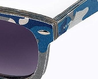 amoloma Jeans canvas Sonnenbrille canvas textil Acetat Hybrid camouflage