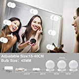 Vanity Mirror Lights Kit,LED Lights for Mirror with Dimmer and USB Phone Charger,LED Makeup Mirror Lights Kit Hollywood Style Lighting Fixture Strip 6500k for Bathroom Dressing Roo