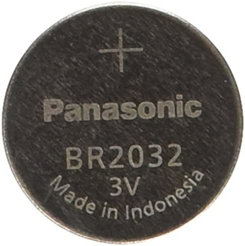 PANASONIC BATTERIES BR2032 LITHIUM BATTERY, 3V, COIN CELL (1 piece)