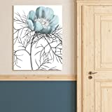Portfolio Canvas Decor Redoute Paeonia Tenuifolia Blue DT I Crop Wrapped Canvas Wall Art