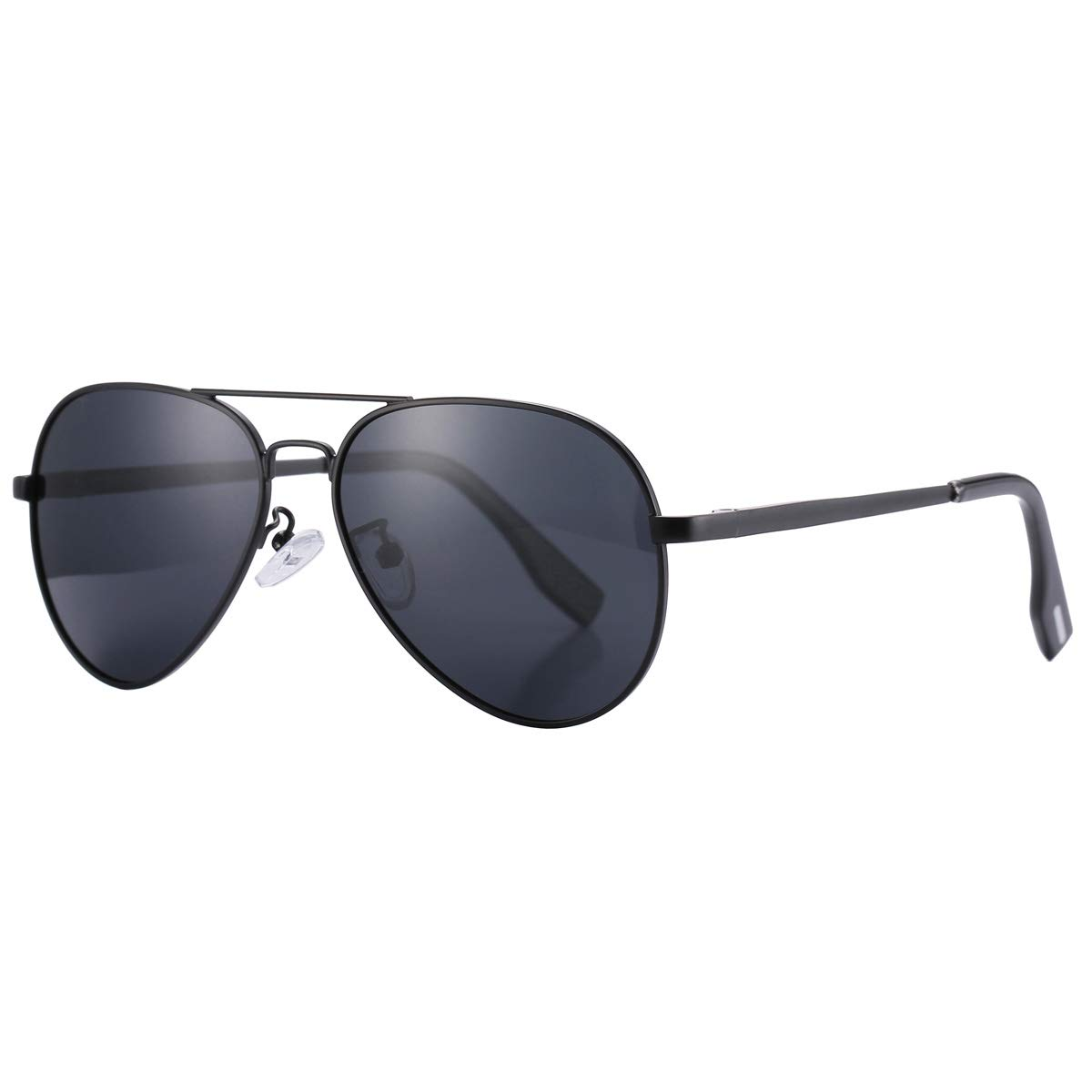 Pro Acme Small Polarized Aviator Sunglasses for Adult Small Face and Junior, 52mm (Black Frame/Black Lens - Without Logo) by Pro Acme