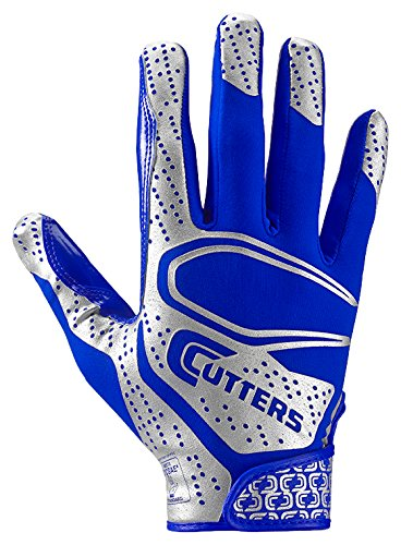Cutters Rev 2.0 Receiver Gloves, Pair, Adult,Small,Royal by Cutters