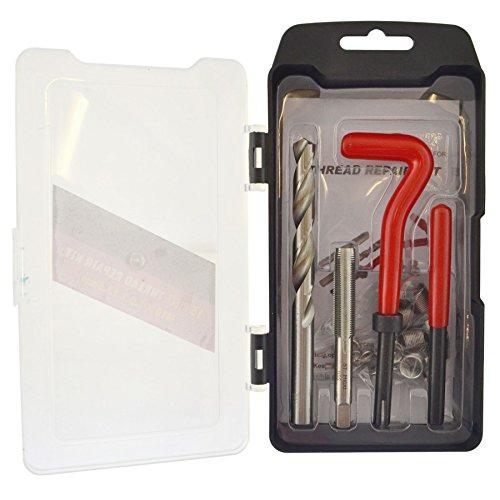 M10 x 1.0mm Thread repair kit / helicoil 9pc set damaged thread AN043 by A B Tools
