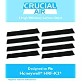 8 High Efficiency Replacement Honeywell Carbon Filters Fit FD-070, HFD-120, HFD-12-Q, HFD-12-TGT, HFD-123-HD, HFD300, HFD310, HFD314, HFD320, HFD323-TGT & HFD324, Compare to Part # HRF-K2, Designed & Engineered by Crucial Air4