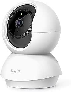 TP-Link TP-Link Tapo Pan/Tilt Wi-Fi Camera, 1080P, Motion Detection, Night Vision, SD Card Slot, Voice Control (Tapo C200), White, Tapo C200(EU)