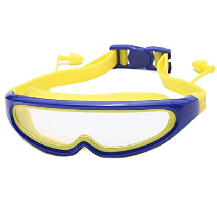 5fa6b6ecc31 Amazon.com  Minzhi Kids Large Frame Swimming Goggles Children Safety  Outdoor Eyewear Anti-fog Waterproof Beach Pool Swim Glasses  Sports    Outdoors