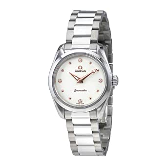 7e9d5a4ab31a Image Unavailable. Image not available for. Color: Omega Seamaster Aqua  Terra Ladies Watch ...