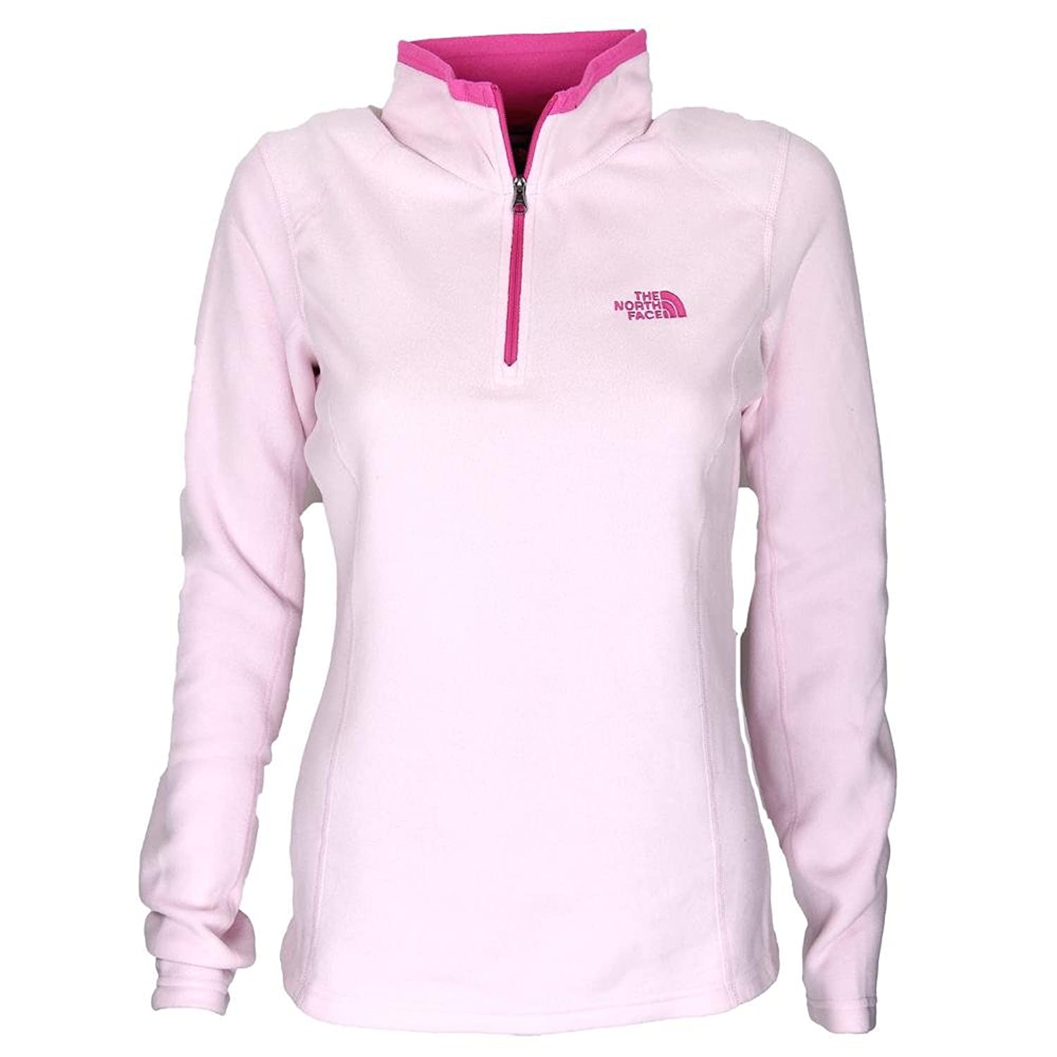The North Face Women Glacier 1/4 Zip Fleece Light Pink/Hot Pink