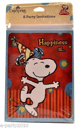 Peanuts Snoopy Invitations w/ Envelopes (8ct)]()