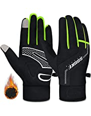 Souke Sports Winter Cycling Gloves Men Women Thermal Touch Screen Padded Bike Gloves Water Resistant Windproof for Mountain Biking Running