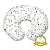 Boppy Original Nursing Pillow and Positioner, Notebook Black and Gold, Cotton Blend Fabric with allover fashion: more info