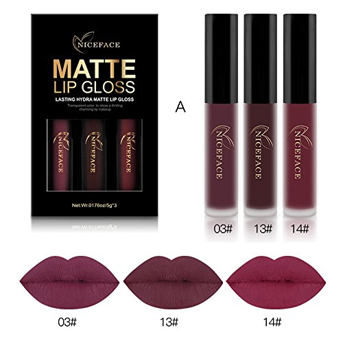 Coosa 3PCS of 3 Colors Madly MATTE Lipst...